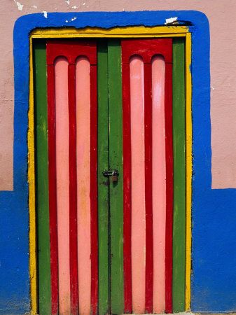 Colourful door, Raquira, Colombia