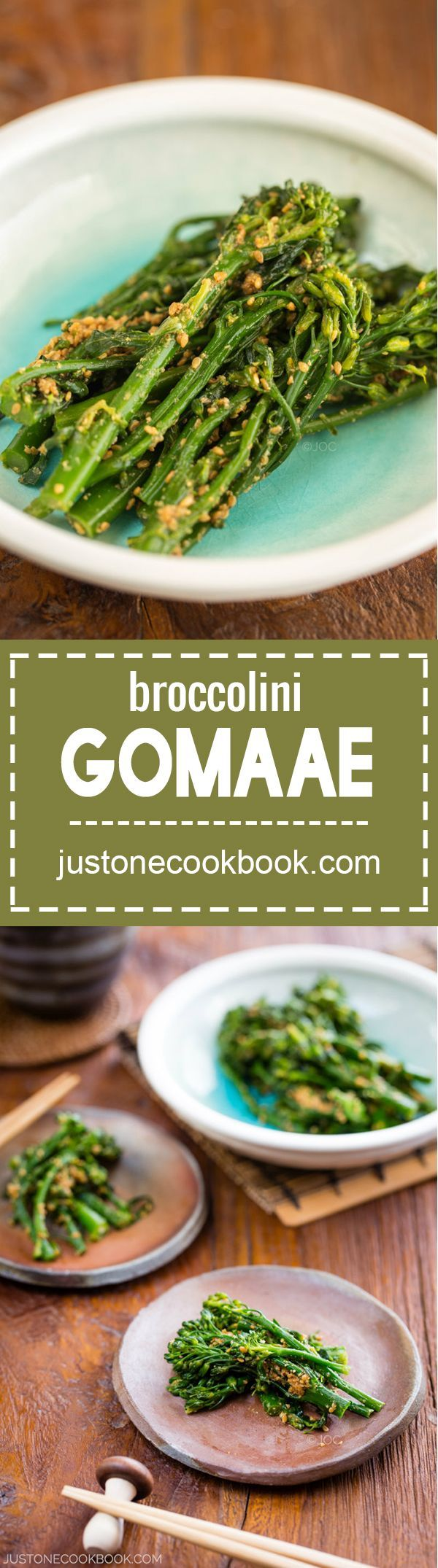 Broccolini Gomaae (Broccolini with Sesame Dressing) | Easy Japanese Recipes at