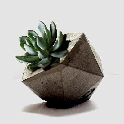 Macetas De Cemento - Original Diseño Artesanal Y Minimalista - $ 129,90