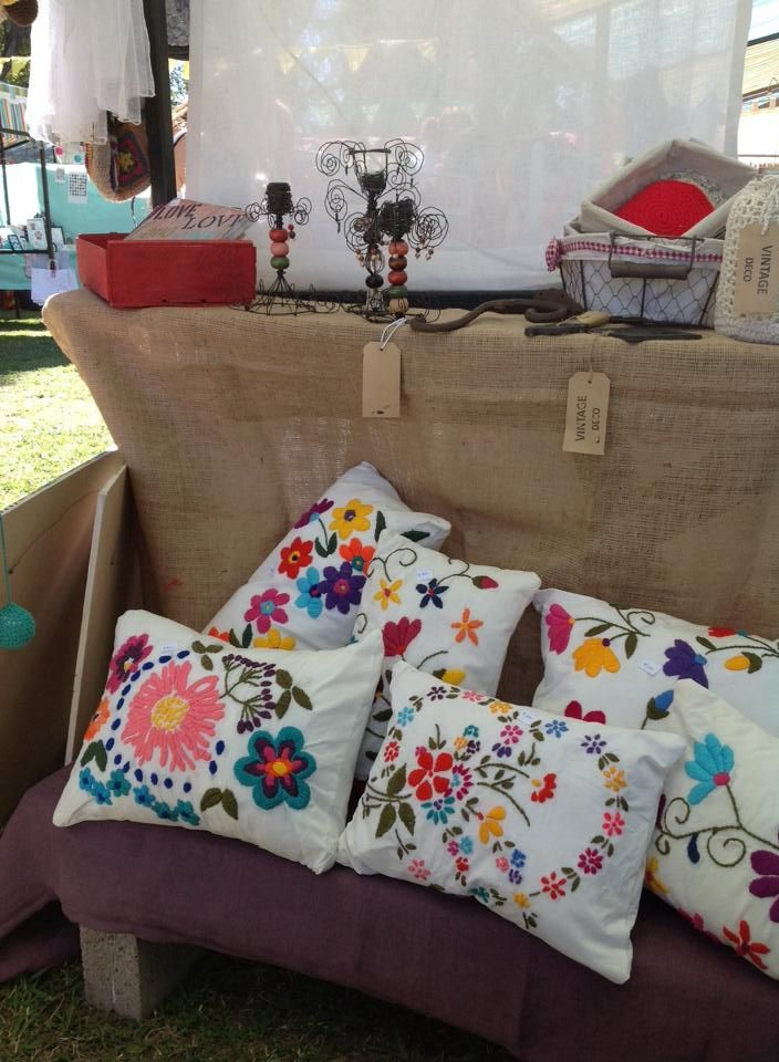 Mexican handmade almohadas