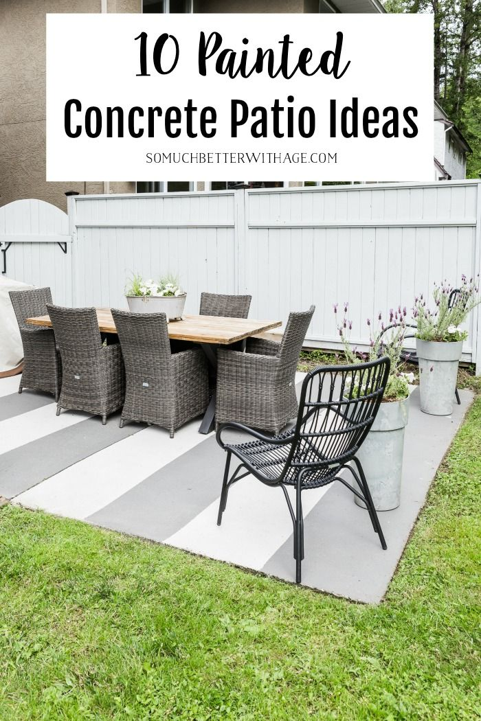 10 Painted Concrete Patio Floor Ideas So Much Better With Age Paint Concrete Patio Patio Flooring Patio
