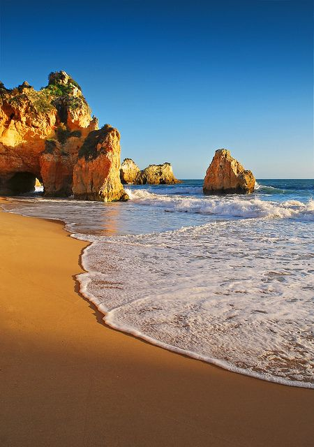 Plage de Lagos dans l'Algarve, Portugal | Lagos beach | #portugal #lagos
