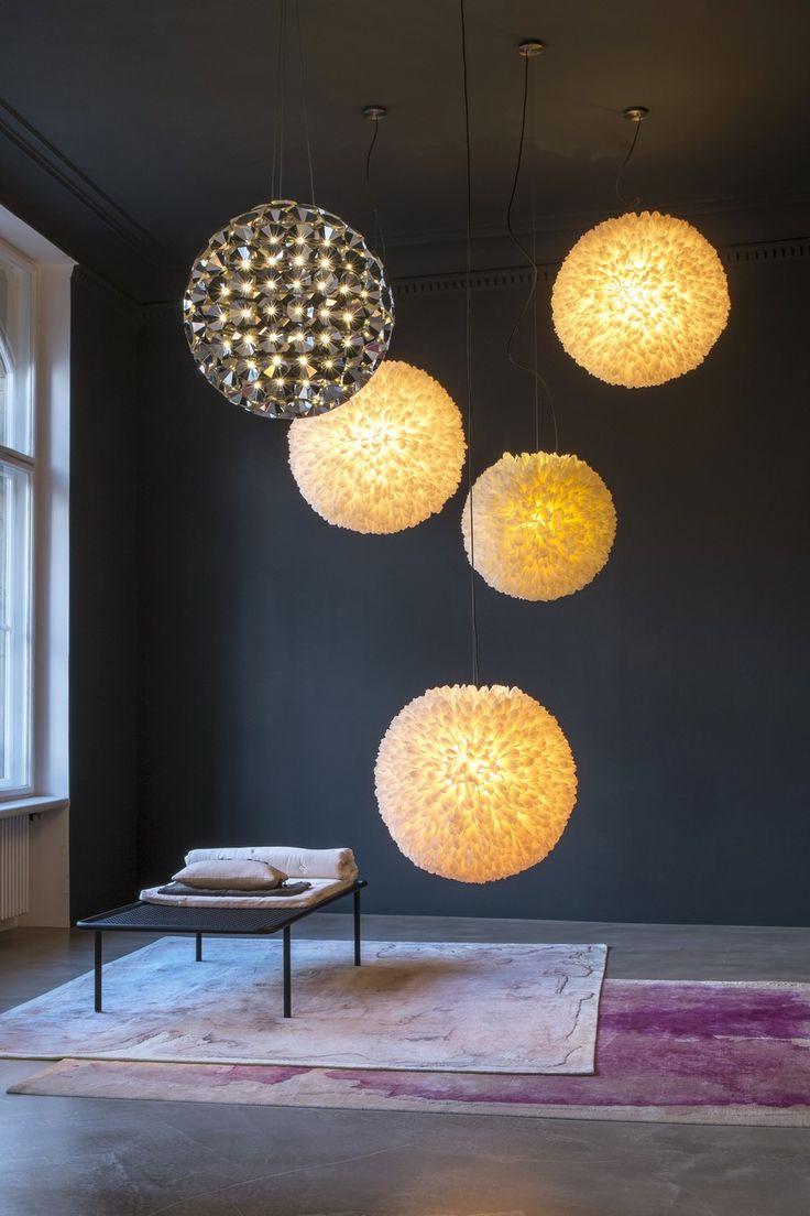 Ball-Shaped Pendant Lamp Made of 150 Single Tea-Lights: Elaine by Daniel Becker