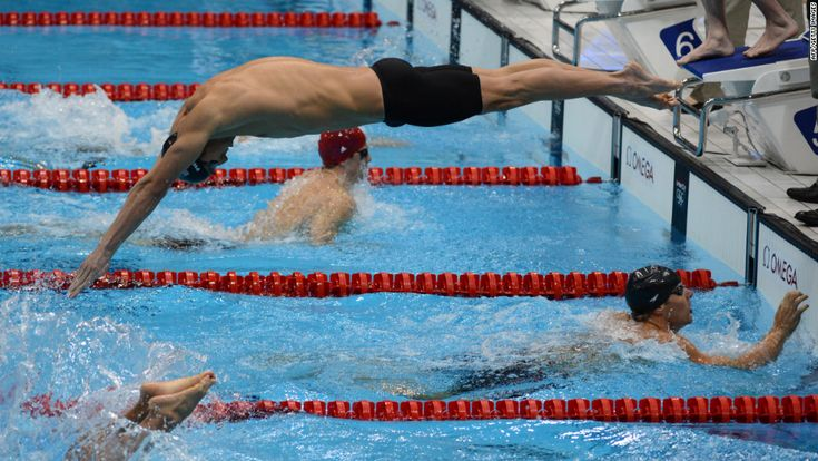 8/4/12 - Could it be .... Michael Phelps of the US in his last Olympic race ever?