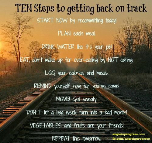 how to get back on track diet