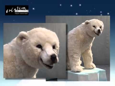 Large animated polar bear christmas display figure for Animated polar bear christmas decoration