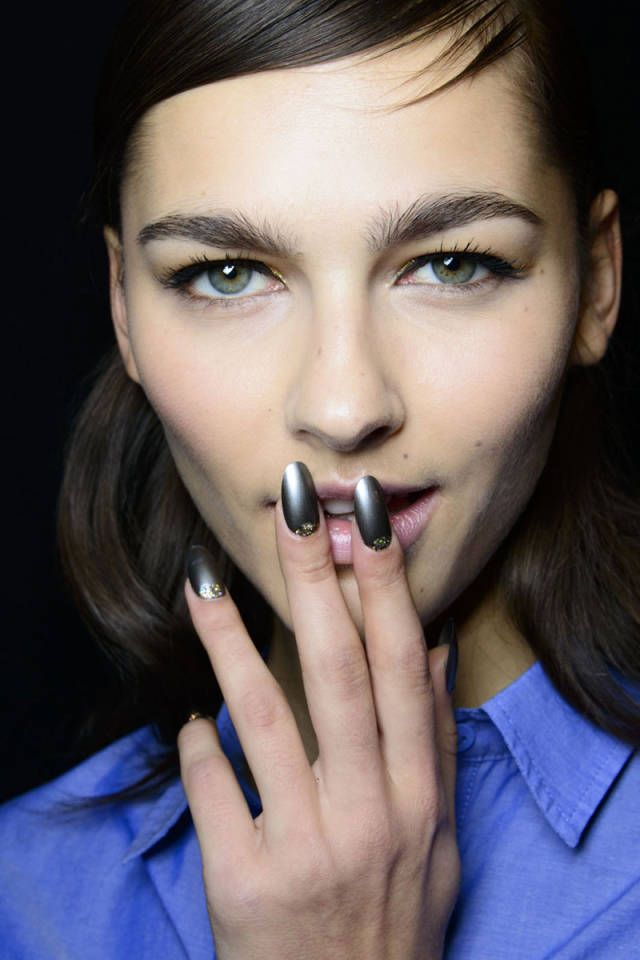 17 Best images about Metallic on Pinterest Gold nails Fall nail