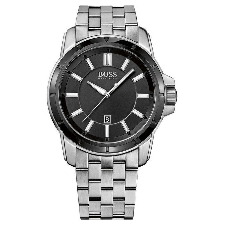 Hugo+Boss+Black+Dial+Stainless+Steel+Bracelet+1512924