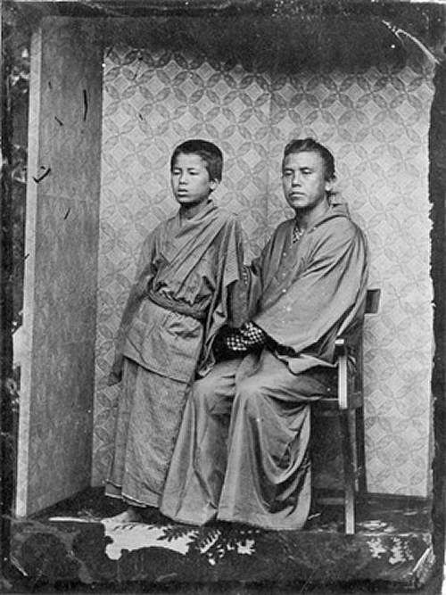 木戸孝允(桂小五郎)1833-1877 と養子 (孝正)
