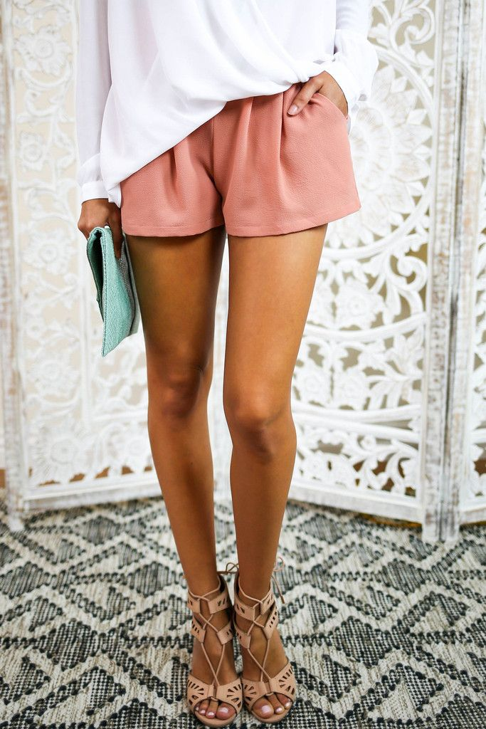 WWW.VICICOLLECTION.COM Our adorable Coast Shorts are the perfect go-to for any occasion. A deep blush hued short made of luxe and incredibly soft rayon. Perfect for day to night wear! The elastic waisted shorts are comfortable and pocketed. Paired perfectly with our No Brainer Top, Bailey Clutch and Creole Heel.