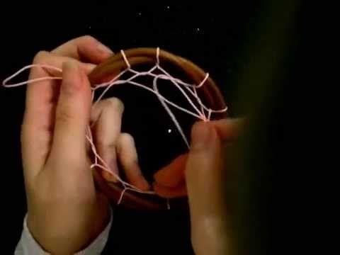 ▶ Tutorial: Tejido en forma de flor para atrapasueños - YouTube