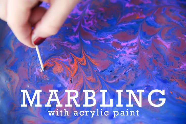 Learn how to marble with acrylic paint