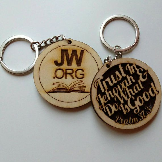 The 2017 Year Text Keychain. It is duel sided with JW.org engraved on the second side.  Measurements: 2 diameter  Laser cut and engraved.  Made from Baltic birch wood.  Available in other languages. Please contact us for details.