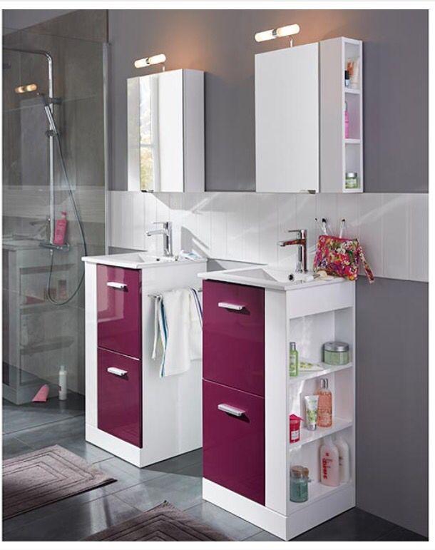 82 best images about salle de bain on pinterest toilets - Couleur aubergine salle de bain ...