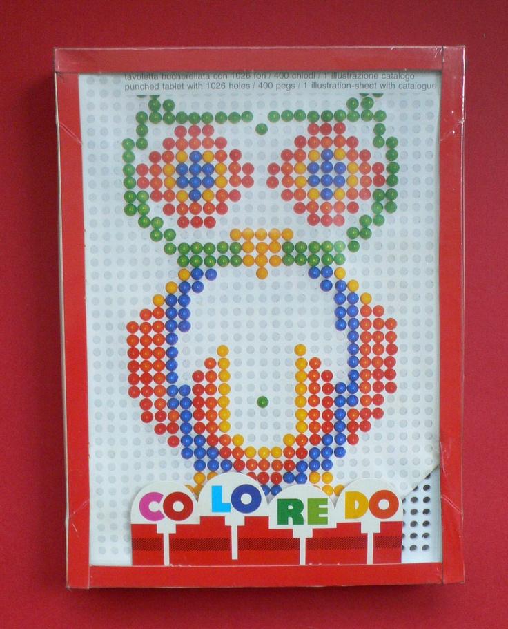 Quercetti Coloredo 1980's pin set