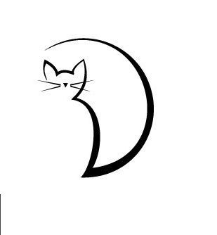 Résultats de recherche d'images pour «cat outlines lines tattoo»