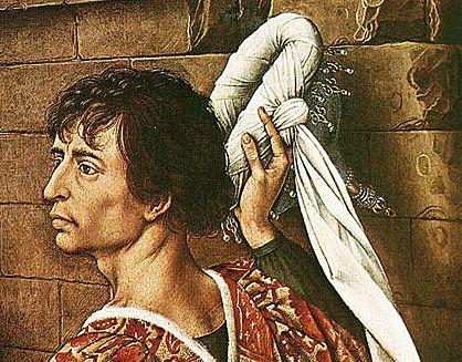 Retable de Sainte Colombe, portrait présumé de Charles le Téméraire, Rogier van der Weyden