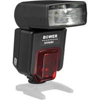 Bower SFD680C Digital TTL Power Zoom Shoe Mount Flash for Canon EOS - GN 130  The flash features an auto-zoom flash head, which auto-senses the focal length of the camera's lens, and adjusts itself accordingly, within the range of 28mm to 85mm. It can also tilt and swivel for complete creative control. Its light output can be adjusted with a range of +/-1 EV in 0.5 increments (5 settings). It is an ideal economical all-around flash for any digital or 35mm autofocus SLR shooter.  $95