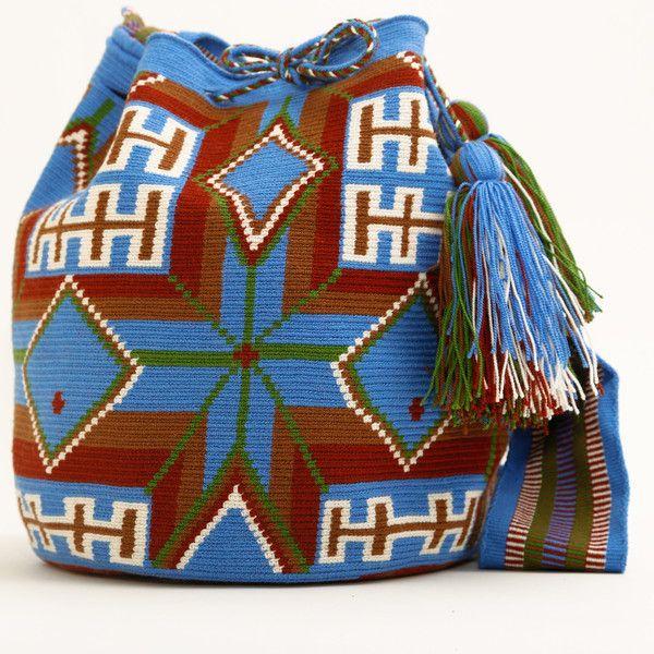 WAYUU TRIBE   #Handmade Bohemian Bags made by the indigenous Wayuu Tribe in Colombia! #Bags starting at $98.00 - $225.00 We offer international shipping including Brazil. #Mochila #Bolsa #Yoga #Crochet #Knit #yarn #moda #mode #boho #handbag #streetstyle #bucketbag