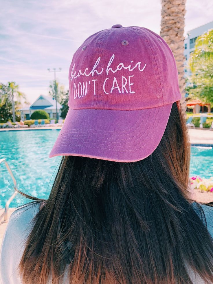 Beach Hair Don t Care women s vacation baseball hat in 2019  3067d4248d1