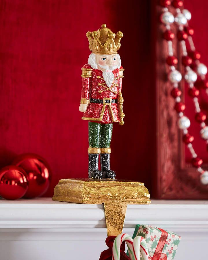 Toy Soldier Stocking Holder Baton Up Stocking Holders