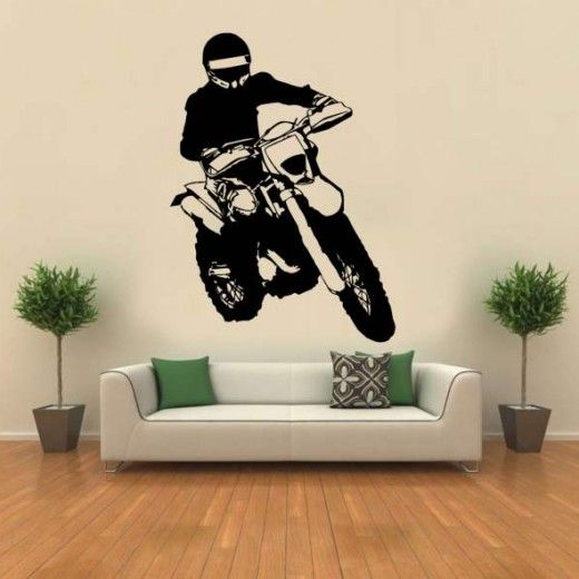 Hoopoe Decor Road Bike rider Wall Stickers and Decals