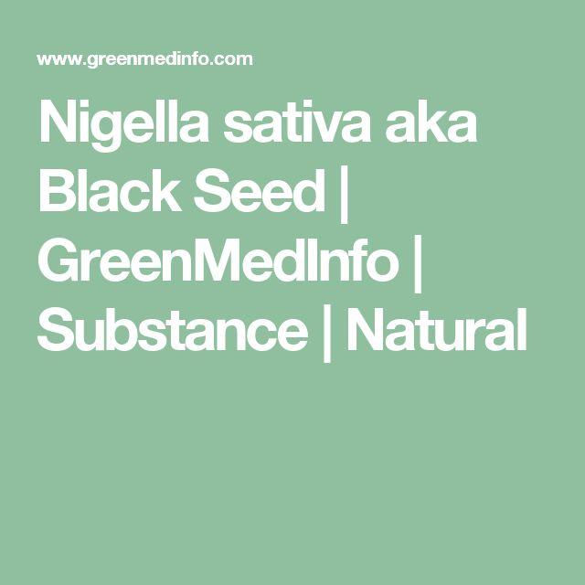 Nigella sativa aka Black Seed | GreenMedInfo | Substance | Natural