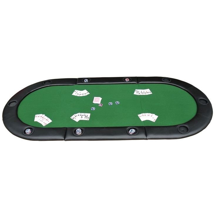 Foldable Poker Table Top Players Blackjack Casino Cards Game Christmas Sports