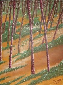 La pinera Óleo sobre lienzo 30 cm * 40 cm Dic-2012