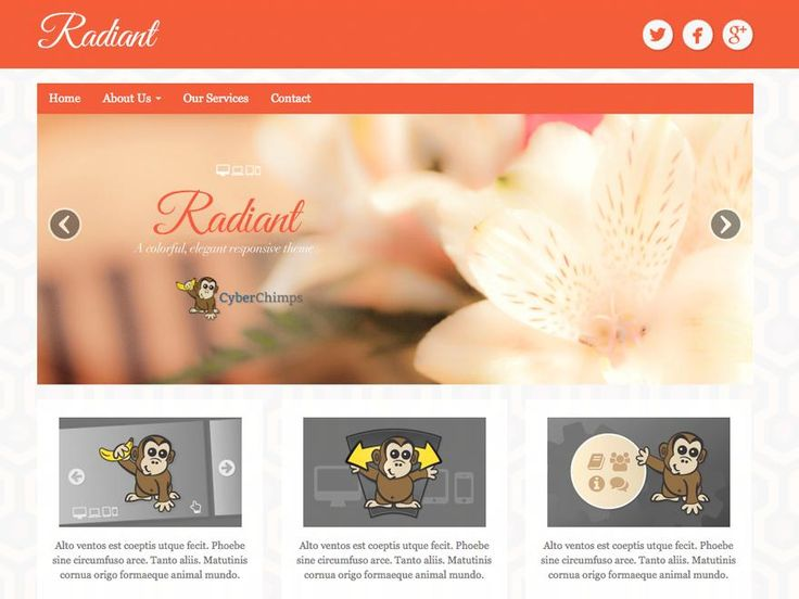 Radiant wp theme use bootstrap to design, its featured with slider and clean design also responsive featurehttp://jabirah.com/m/radiant-wp-theme-bootstrap-slider-and-responsive.html