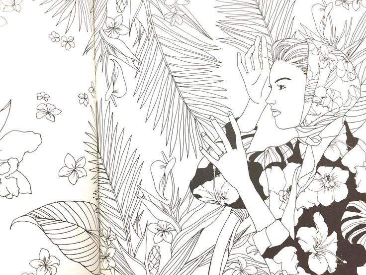 Blossom by Jeon ji young korean coloring book for anti