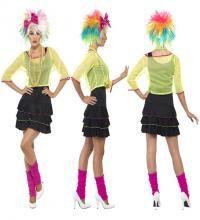Disfraz Chica Pop de los Años 80 para Mujer en varias tallas. Disfraz Único y de Alta Calidad con el que podrás imitar el estilo de iconos del Pop de los 80 como
