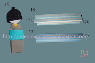 Instrucciones muñeco japones de papel