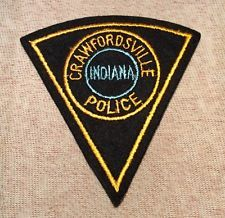 Crawfordsville Indiana Police Patch