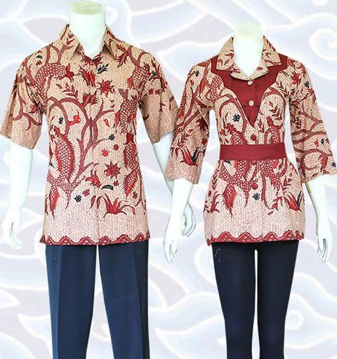 Blus batik sarimbit SBM58 selengkapnya di http://senandung.net/batik-sarimbit/