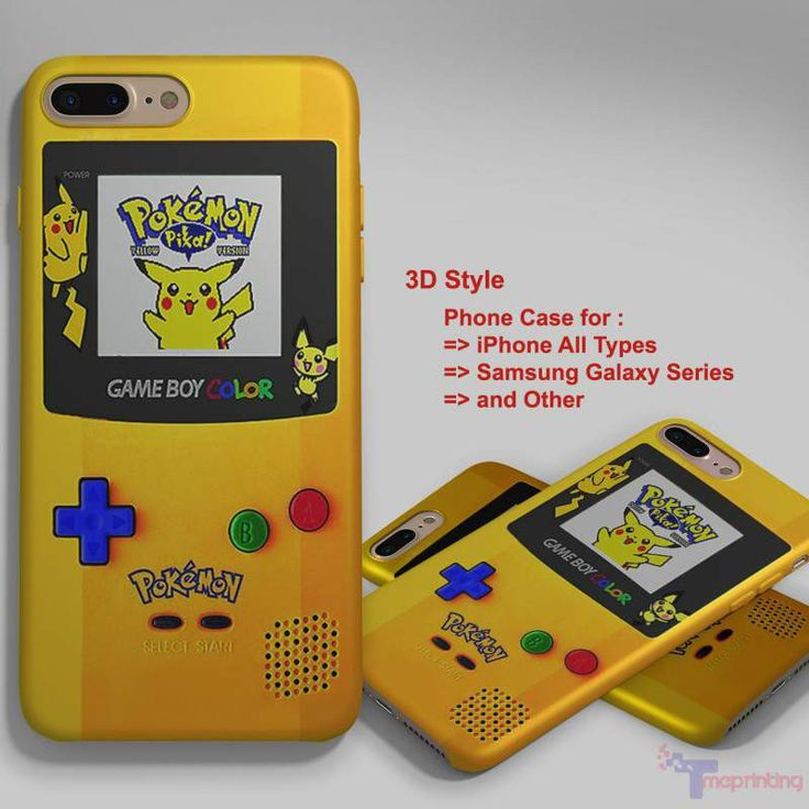 Gameboy Color Pokemon Edition - Personalized iPhone 7 Case, iPhone 6/6S Plus, 5 5S SE, 7S Plus, Samsung Galaxy S5 S6 S7 S8 Case, and Other
