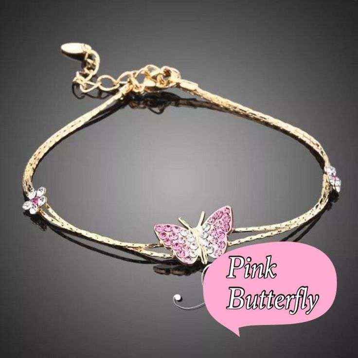 Pink butterfly bracelet 314913