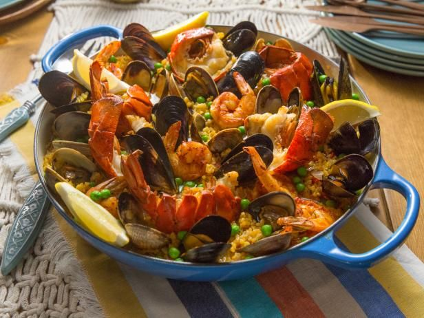 Get Tia Mowry's Seafood Paella Recipe from Cooking Channel