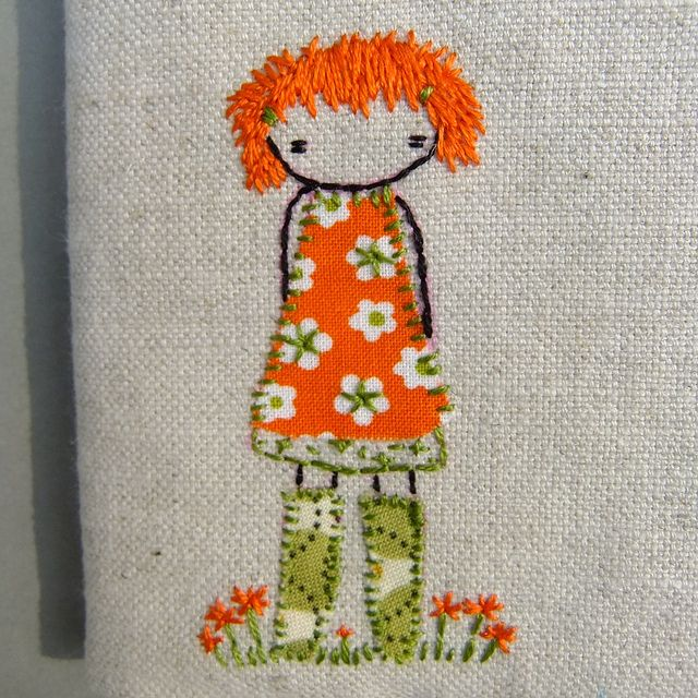 orange girl in green wellies... By lili_popo on Flickr
