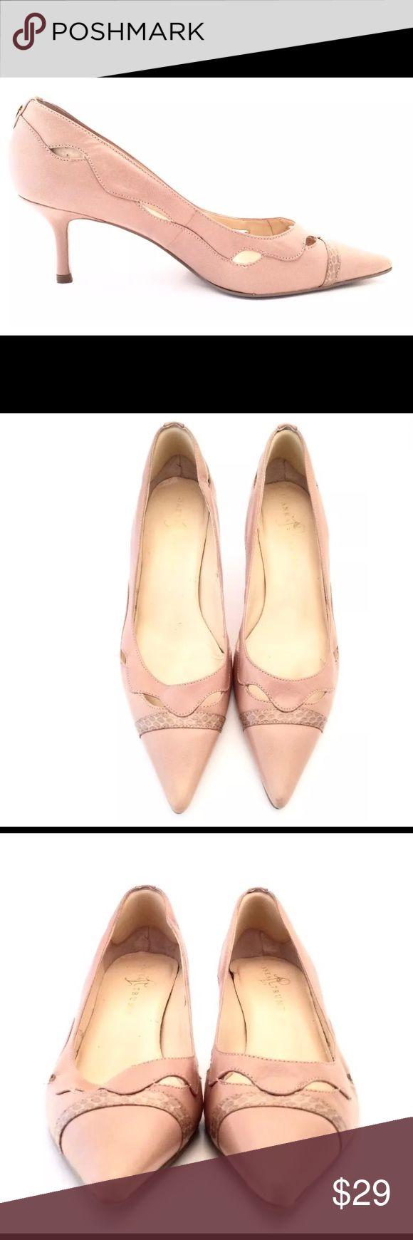 "Spotted while shopping on Poshmark: Ivanka Trump Beige Leather Cut Out ""Imina"" Pumps! #poshmark #fashion #shopping #style #Ivanka Trump #Shoes"