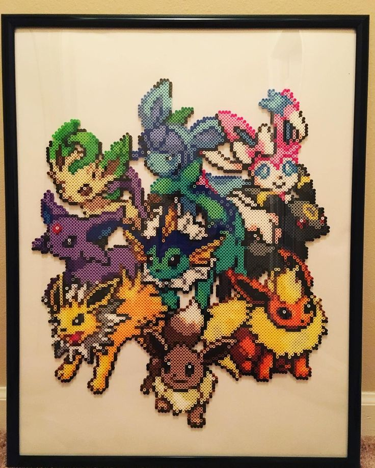 Pokemon perler bead art by rachelsdreamland