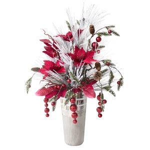 Bouquet de Noël rouge et blanc 41 x 24 x 15''
