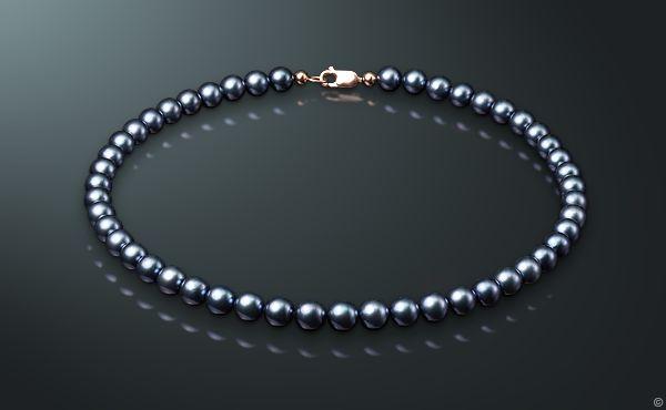 Ожерелье из жемчуга Акойя с жемчугом, золото 585°, мч750-40з