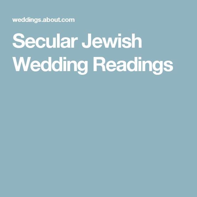 Secular Jewish Wedding Readings