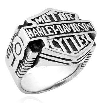 Harley Motorcycle Icon Men's Titanium Ring - Zivpin   Jewelry On-line Shop