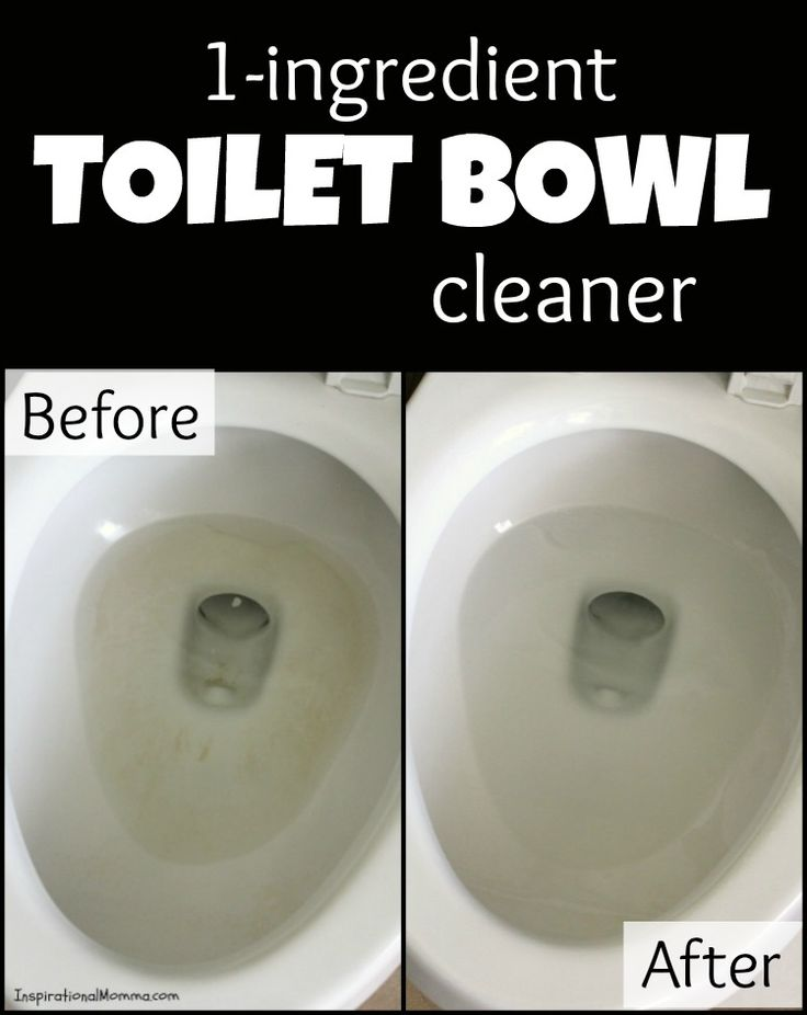 You will be absolutely amazed at this 1-Ingredient Toilet Bowl Cleaner. Let it soak and wipe it away to find a sparkling and clean toilet bowl!