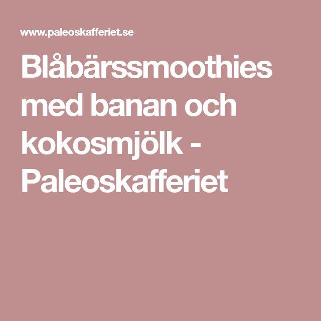 Blåbärssmoothies med banan och kokosmjölk - Paleoskafferiet