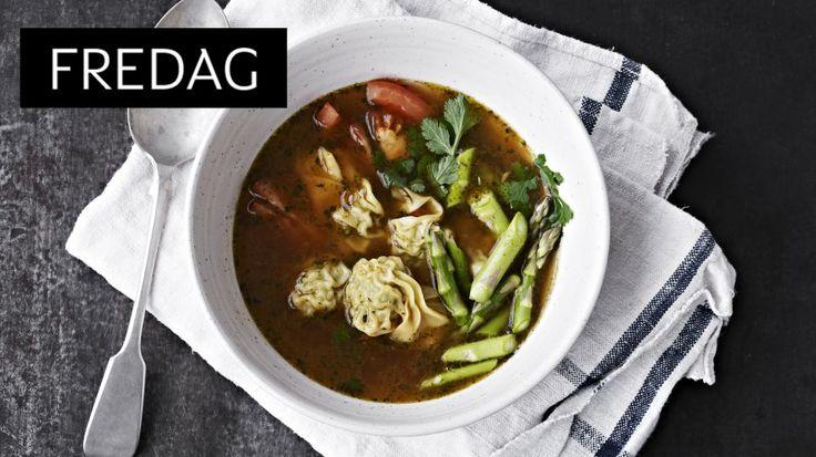 mat: Wontonsuppe med svinekjøtt og asparges - KK.no