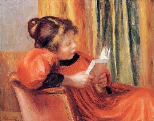 П.О. Ренуар. Читающая девочка. 1893