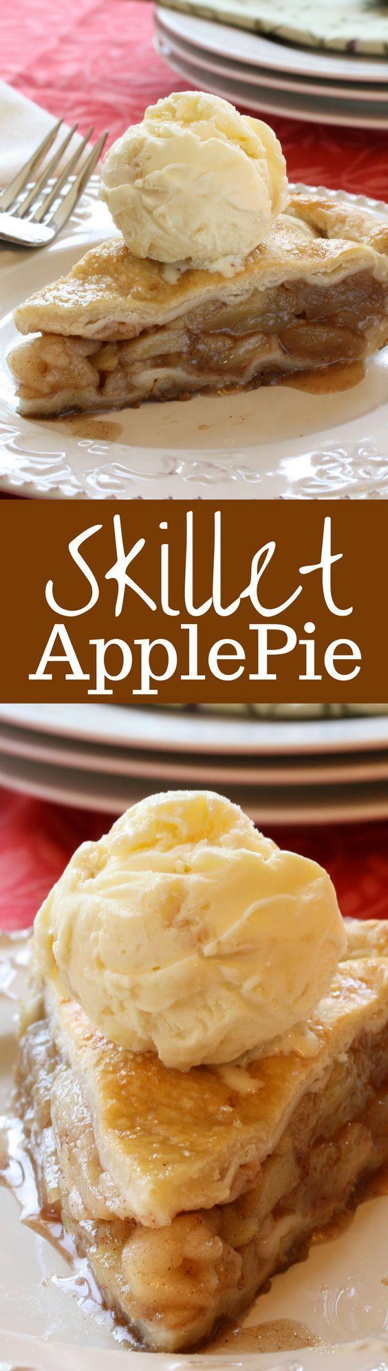 skillet-apple-pie @michaelsusanno @emmammerrick @emmasusanno  #SkilletApplePie #Pie